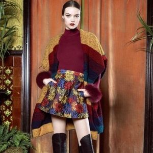 Alice + Olivia LORAN Floral A-line Skirt